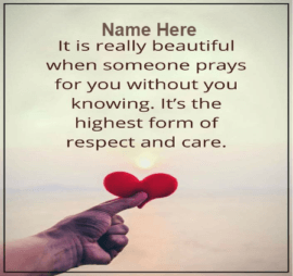 Prayer With Respect And Care