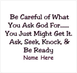 Knock And Ready for Prayer