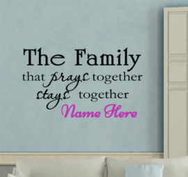 Family Prayer To Stay Together