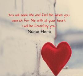 Seek me and Find me In Prayer