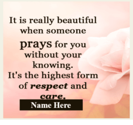 Beautiful to pray by Someone