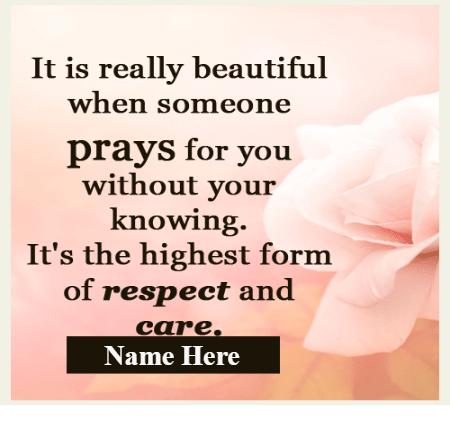 Beautiful to pray by Someone