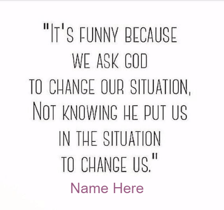 WE Pray to Change Us